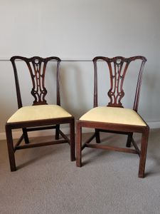 18th Century Pair Mahogany Chairs