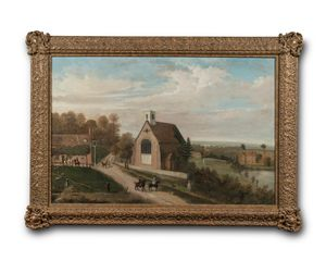 Early 19th century painting of Groombridge, Kent.