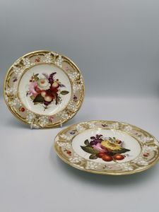 Pair of 19th century Coal port plates