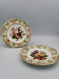 Pair of 19th century Coal port plates