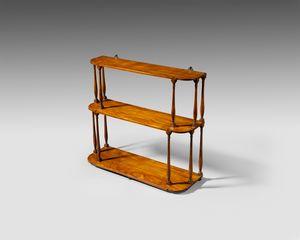 18th century satinwood hanging shelves