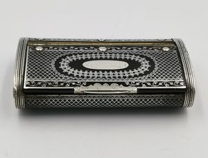 18th Century Silver Pique-work Papier Mache Snuff Box