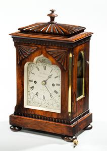 Rosewood library table clock