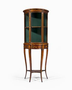 19th Century Italian Bow Fronted Cabinet
