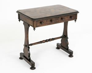 19th century parquerty top occasional table