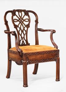 Antique metamorphic arm chair