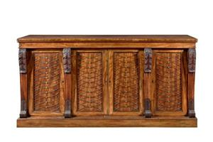 Antique mahogany side cabinet with royal provenance