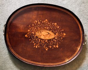 18th Century Oval Inlaid Tray