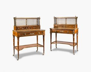 19th Century Pair of Bonheur du Jours attributed to John Maclean