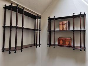 Pair of Late 18th Century Mahogany Hanging Shelves