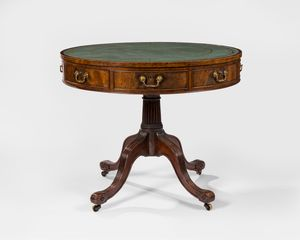 18th Century Mahogany Drum Table