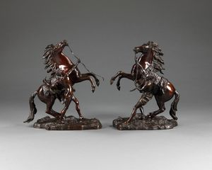 19th century Bronze Marly horses