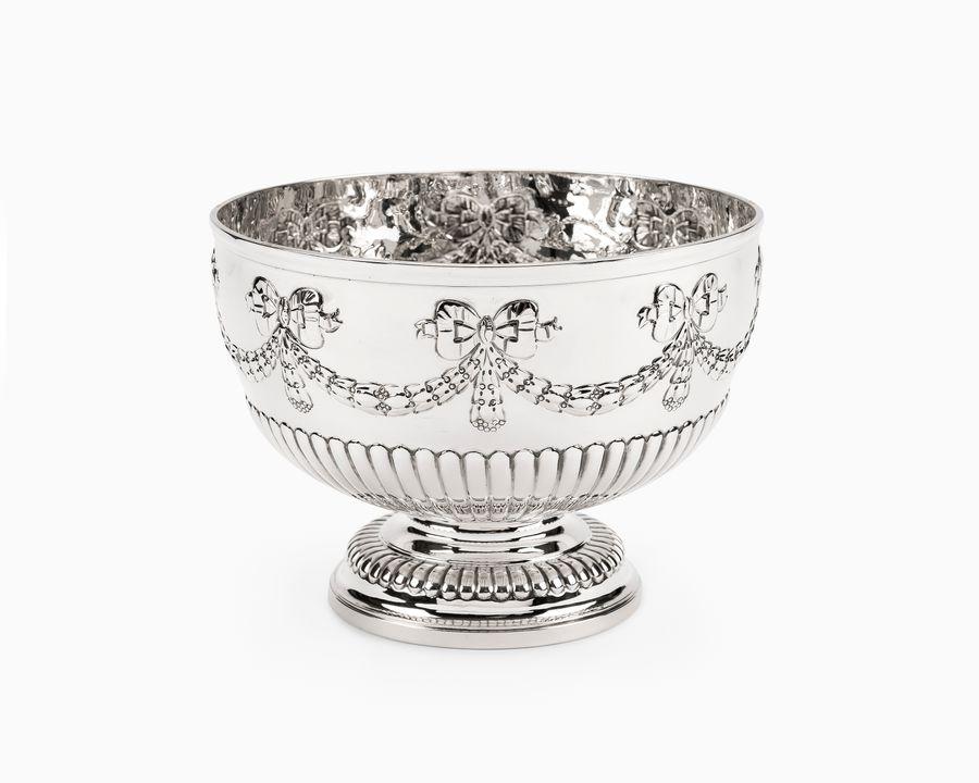 Edwardian solid silver rose bowl
