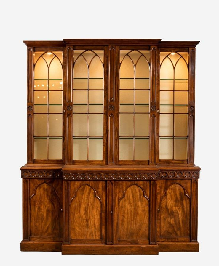 19th Century Gothic Bookcase