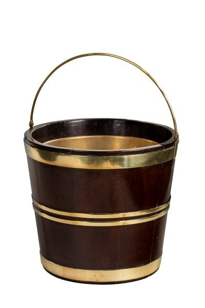 18th Century Dutch Brass Bound Bucket