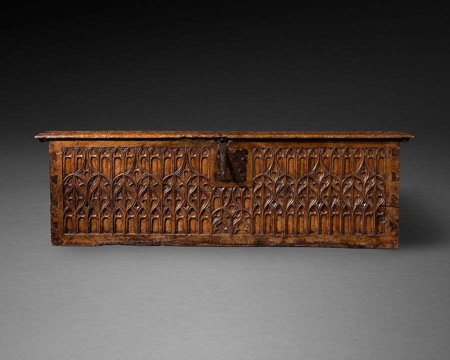 16th century Medieval Walnut Coffer