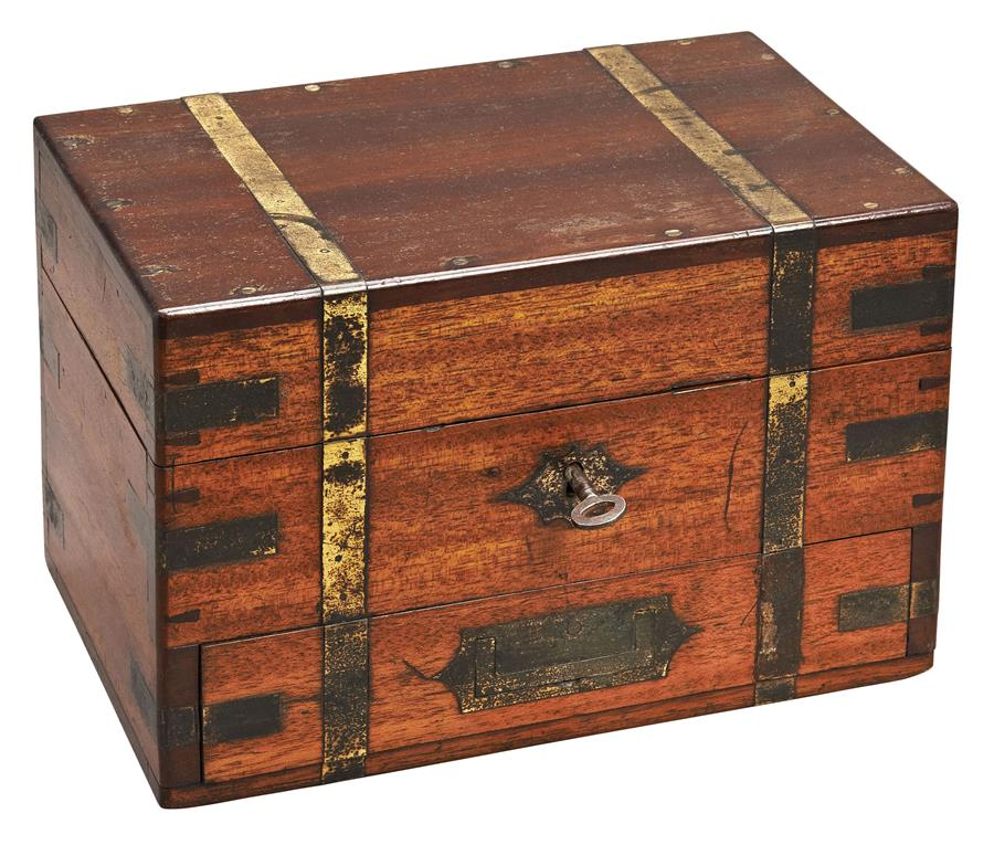 19th century homeopathic apothacary box