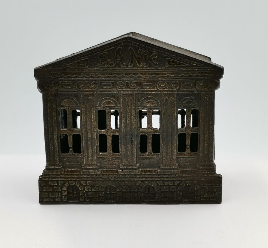 Decorative cast iron money box