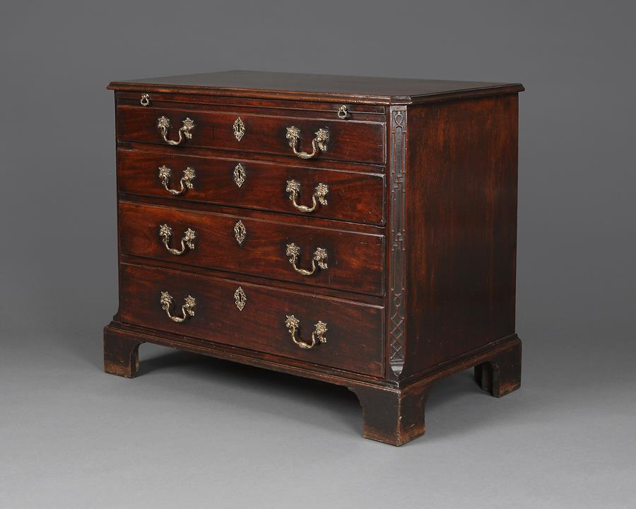 18th century chest with slide