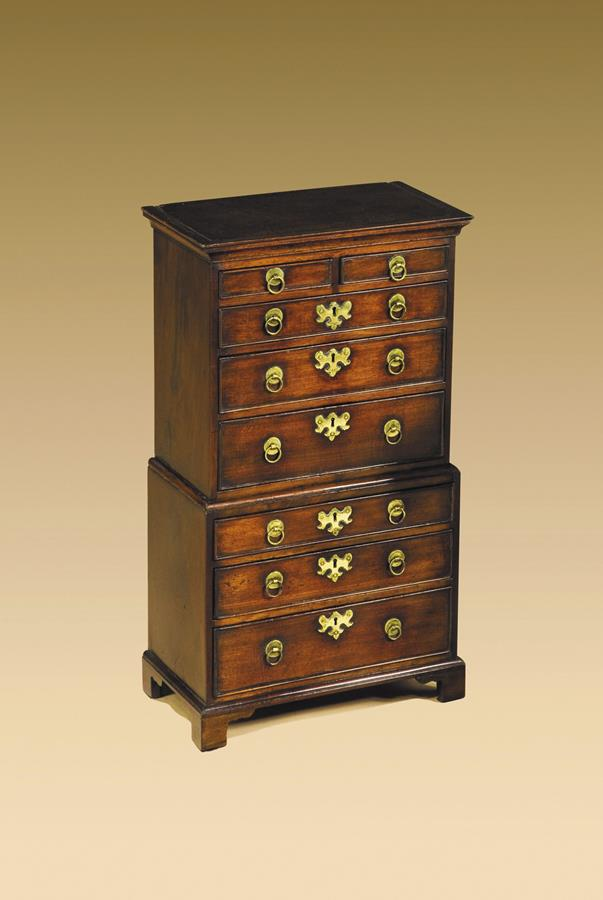 18th Century Miniature Chest on Chest