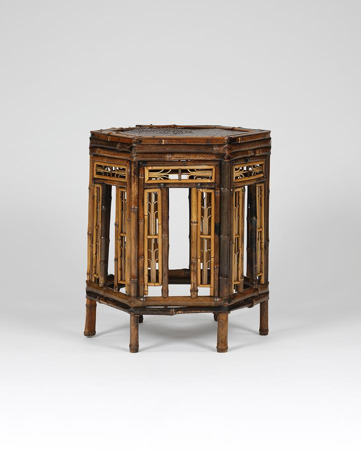 19th century Brighton Pavilion style bamboo table