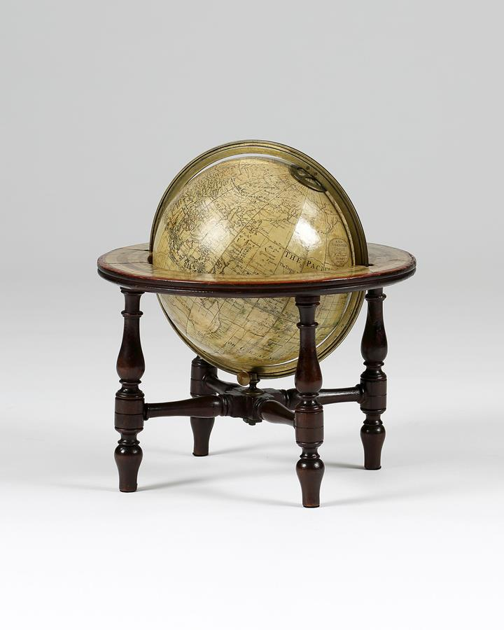 Early 19th century 6 ins terrestrial table globe.