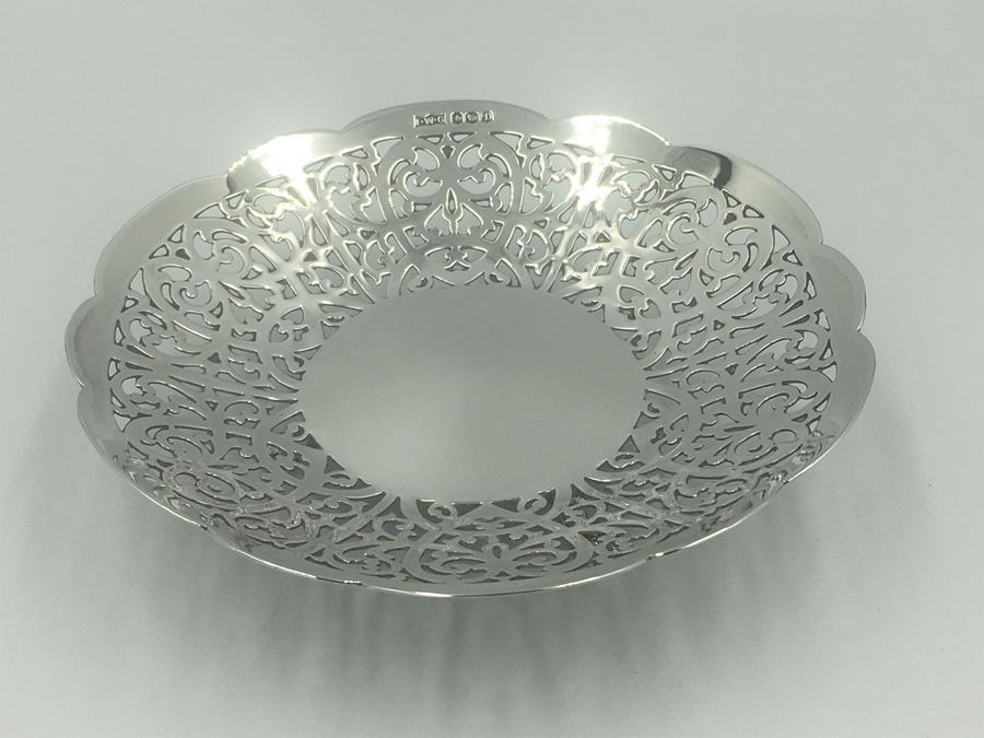 20th century Silver Trinket Dish