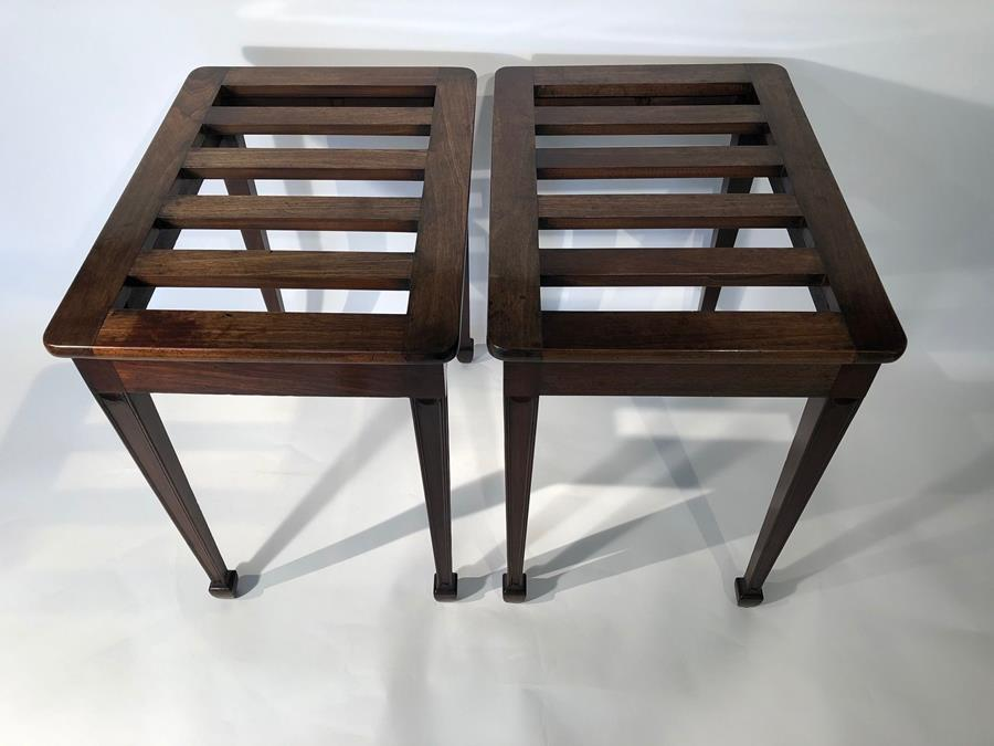 20th century luggage stands