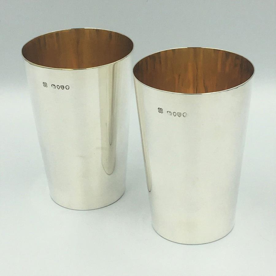 Victorian Silver Beakers