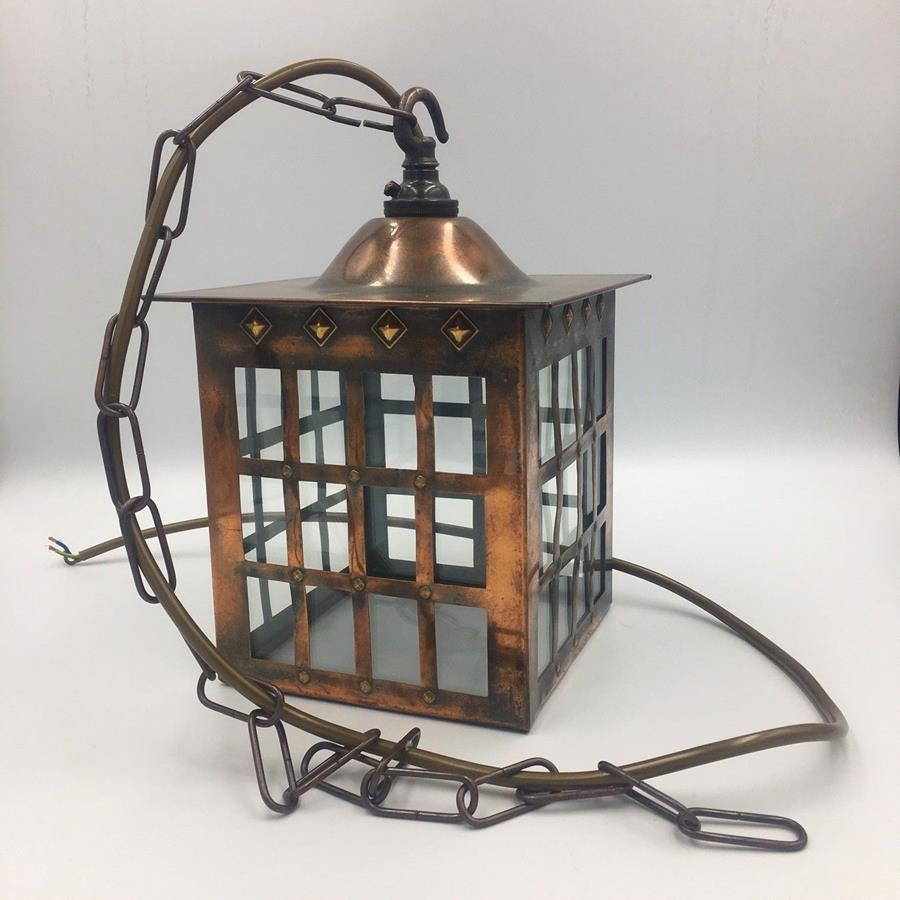 Arts & Crafts Copper Lantern
