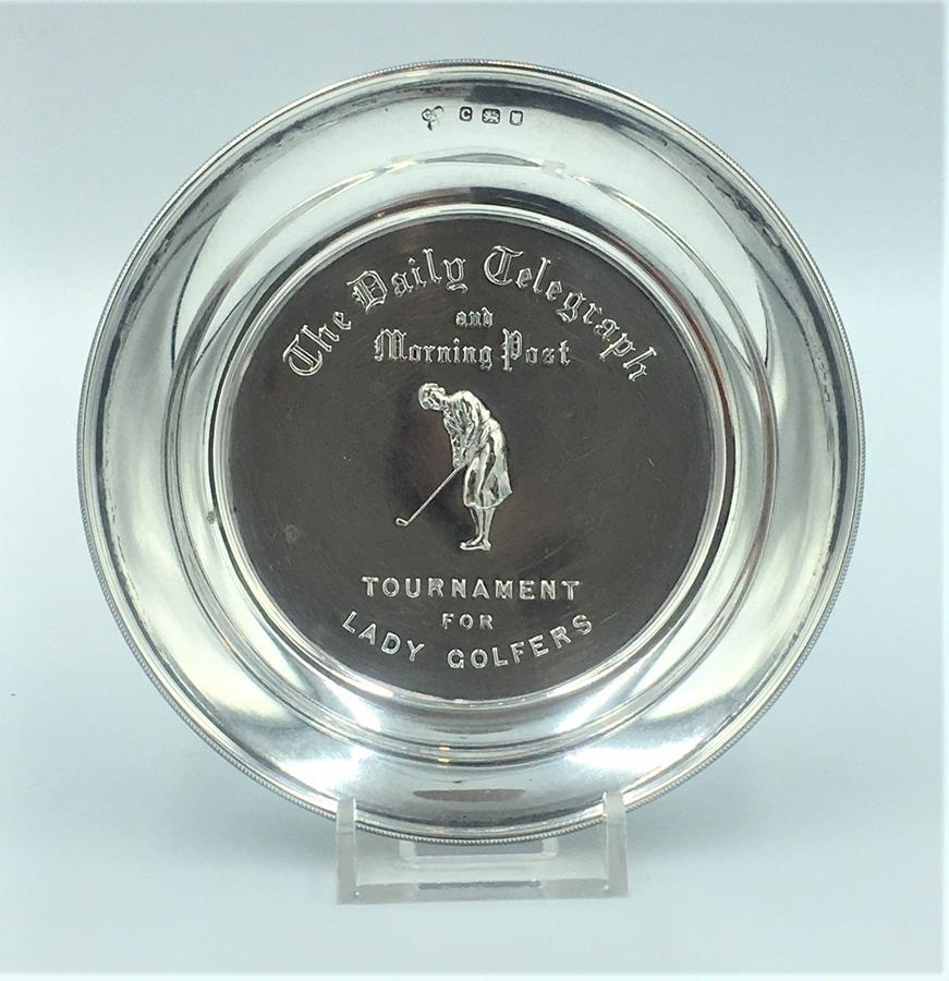 Ladies Silver Golf Trophy Dish
