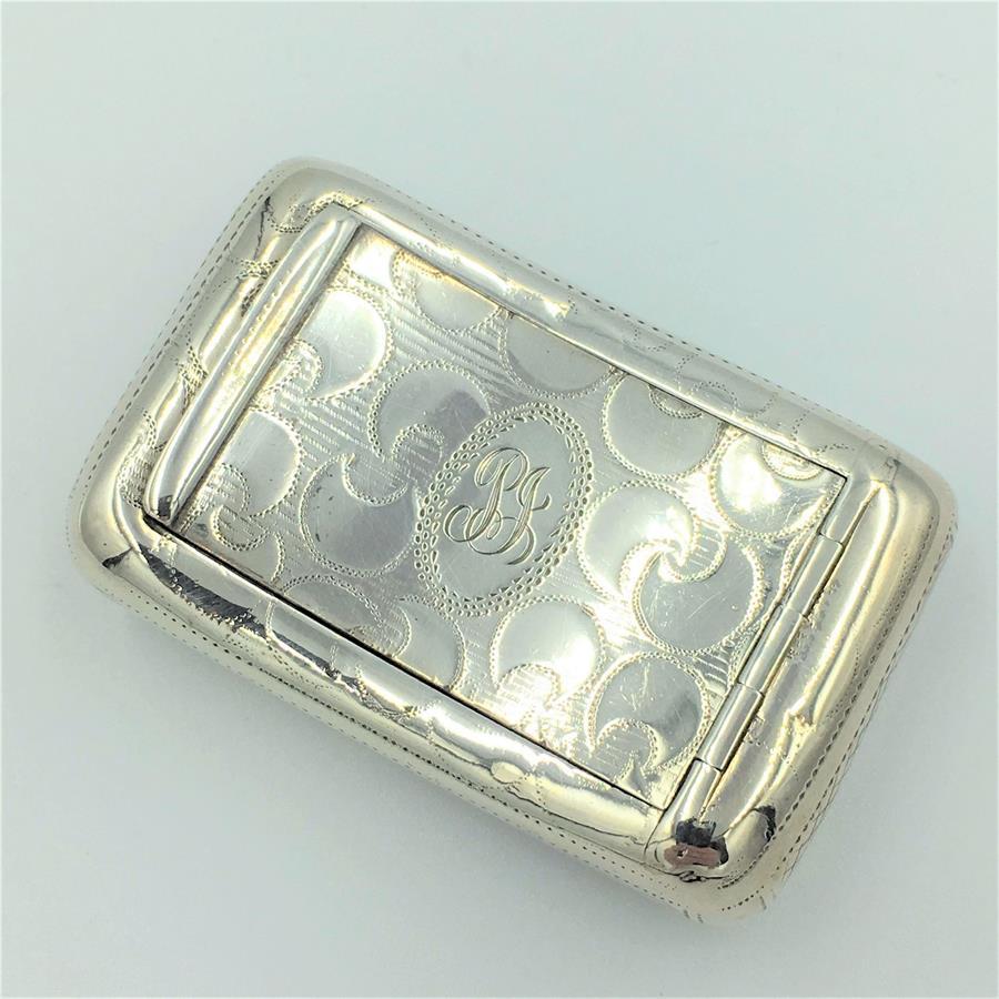 Joseph Taylor silver snuff box