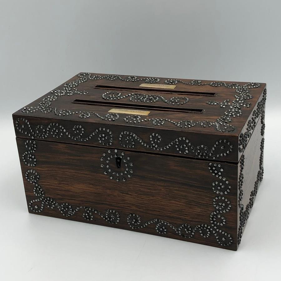 19th century rosewood letterbox