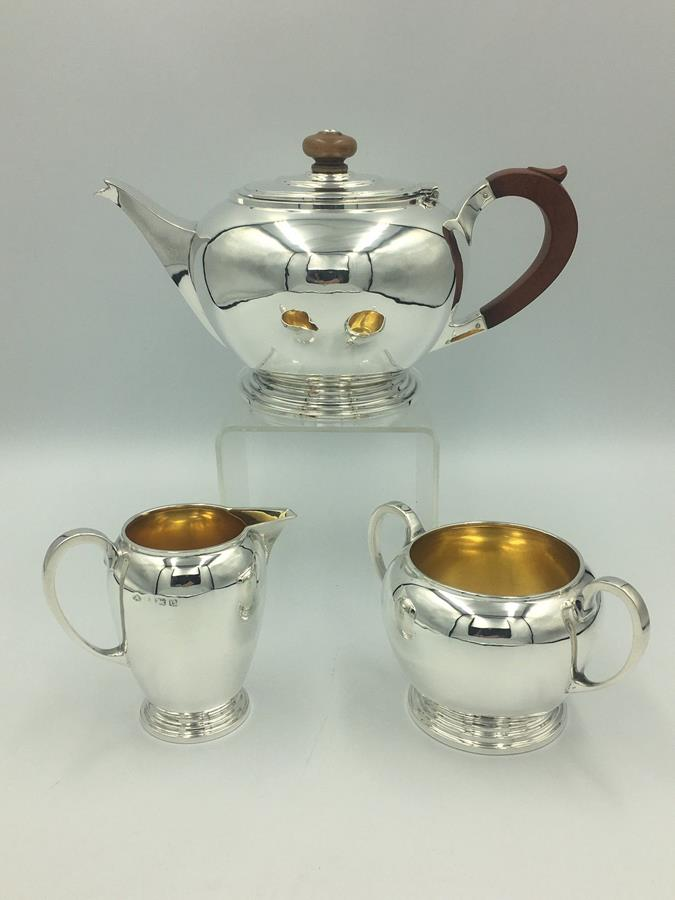 Silver Art Deco Tea Set