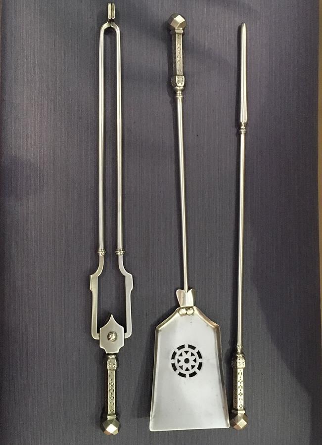 Set of Victorian fire tools