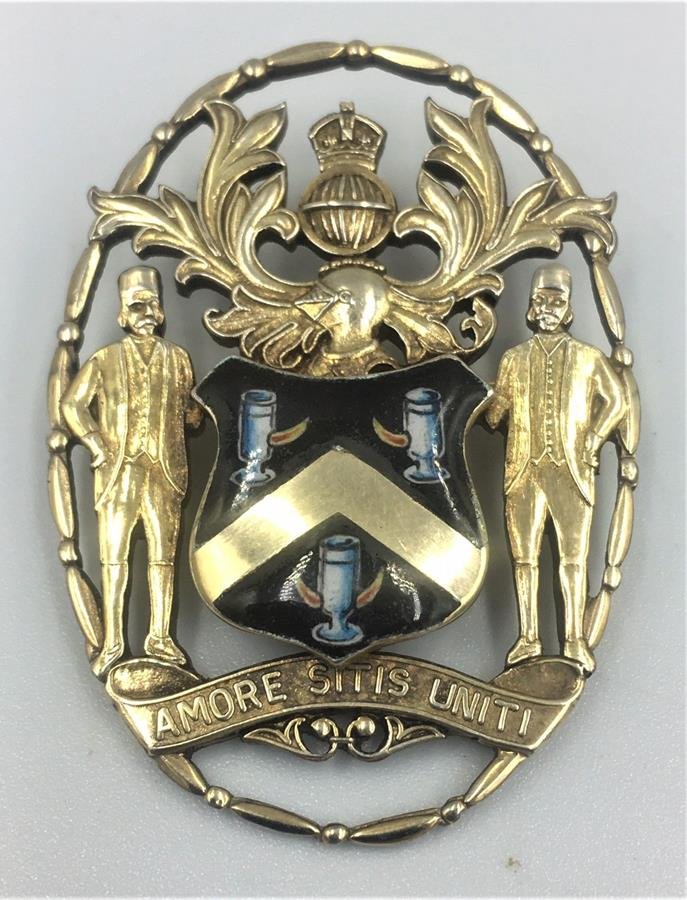 Silver Gilt and Enamel Badge