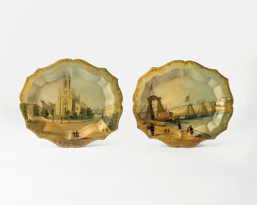 19th Century Papier Mache Trays