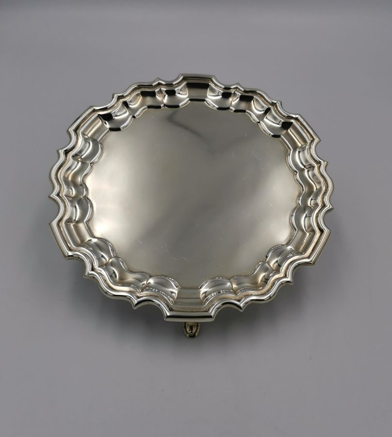 Early 20th Century Small Silver Salver