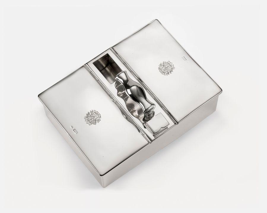Edwardian Silver Cigar Box by Joseph Braham