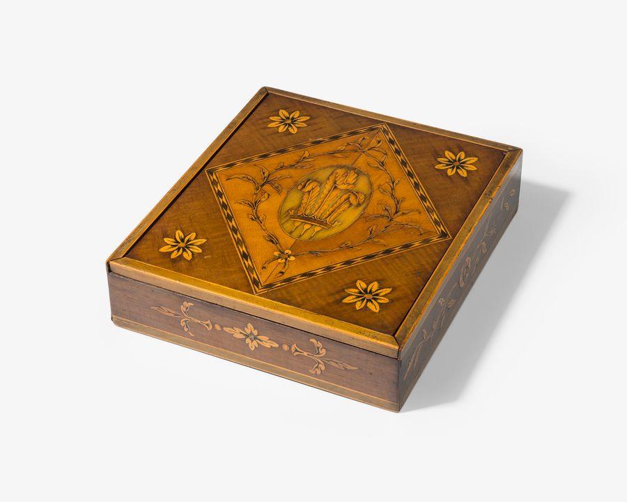 18th century harewood document box