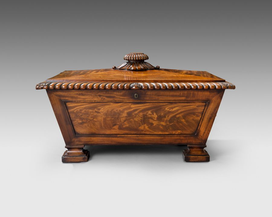 19th century mahogany cellaret