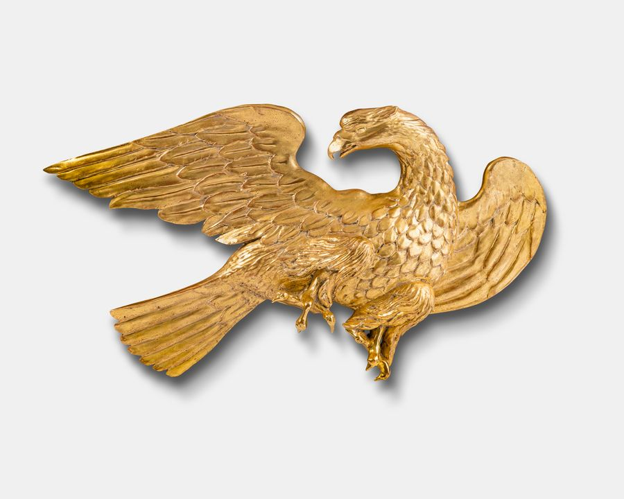 Carved Wood Decorative Eagle