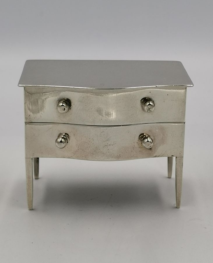 Early 20th Century Novelty Silver Stamp Box