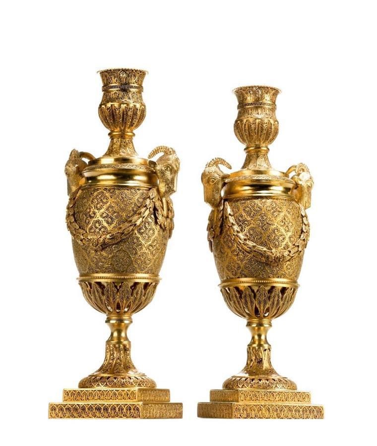 18th Century Goats Head Vases