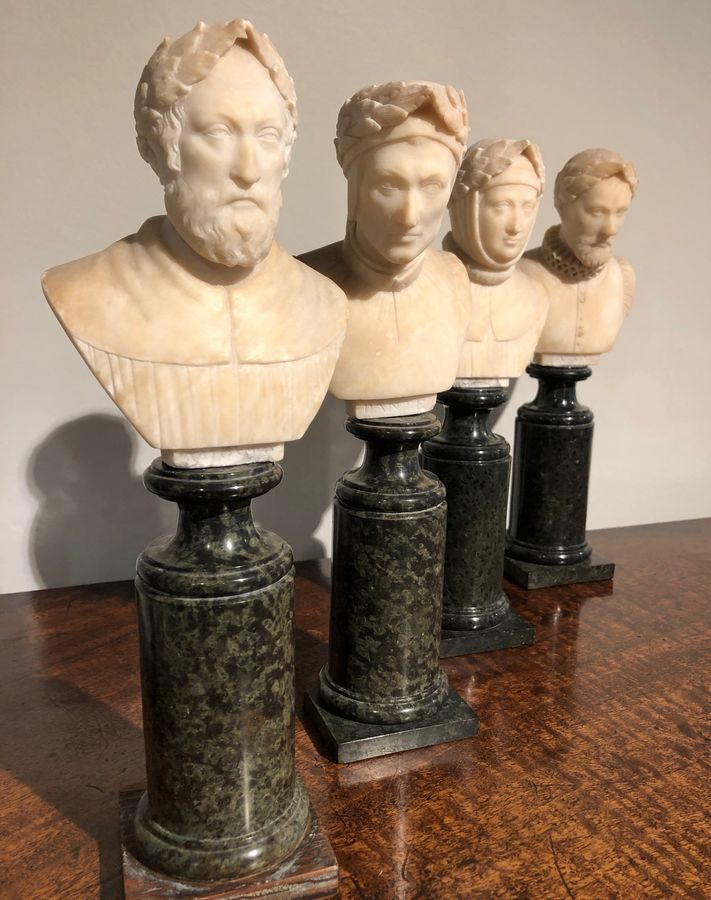 19th Century Four Grand Tour Busts