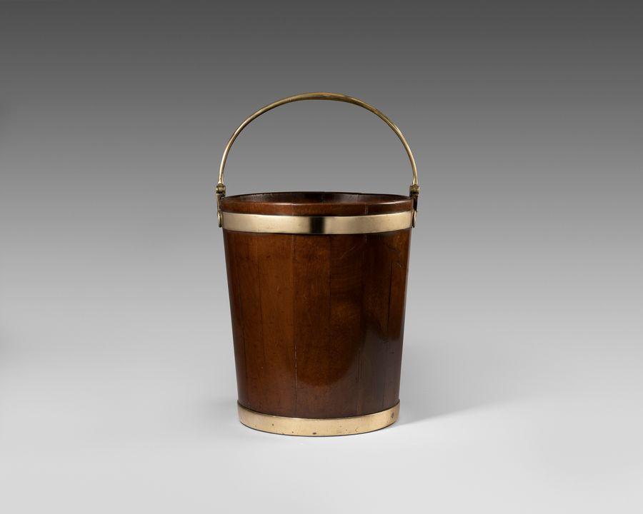 18th century mahogany peat bucket
