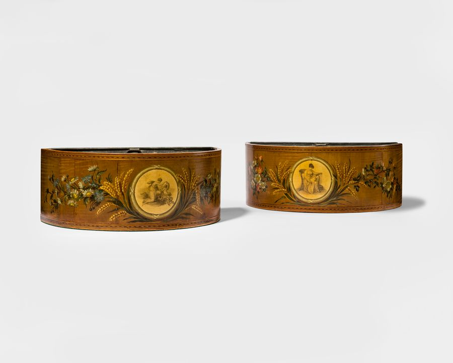 Pair 18th Century D-Shaped Boughpots