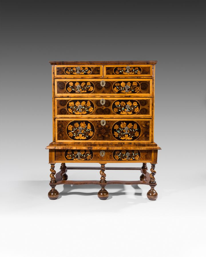 William & Mary period chest on stand