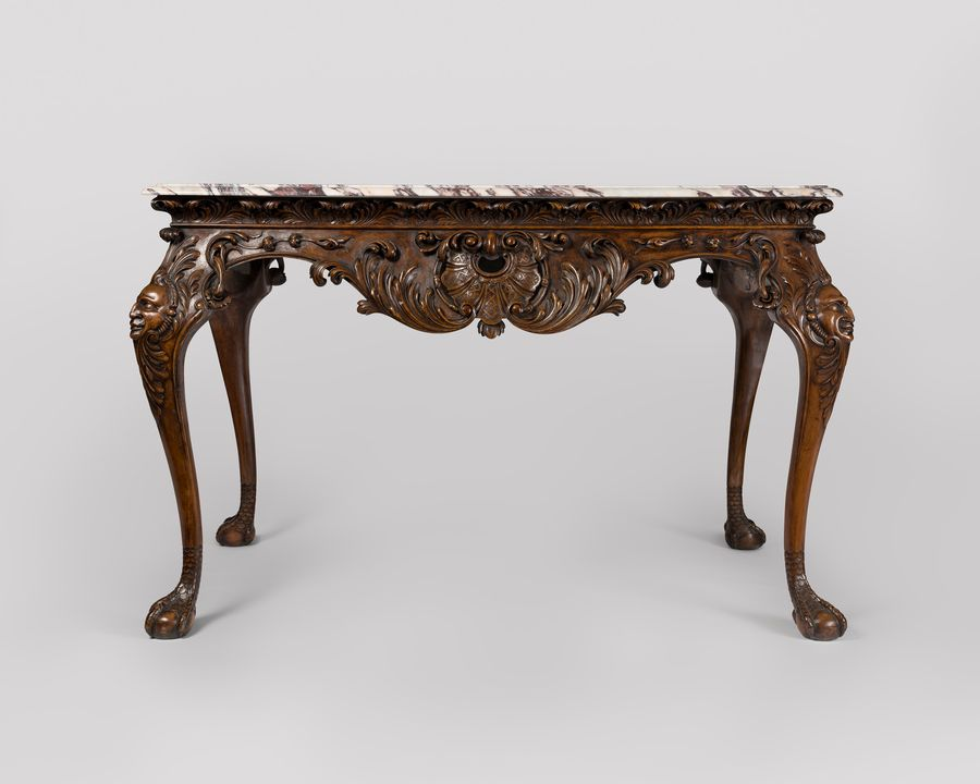 19th Century Marble Top Walnut Centre Table