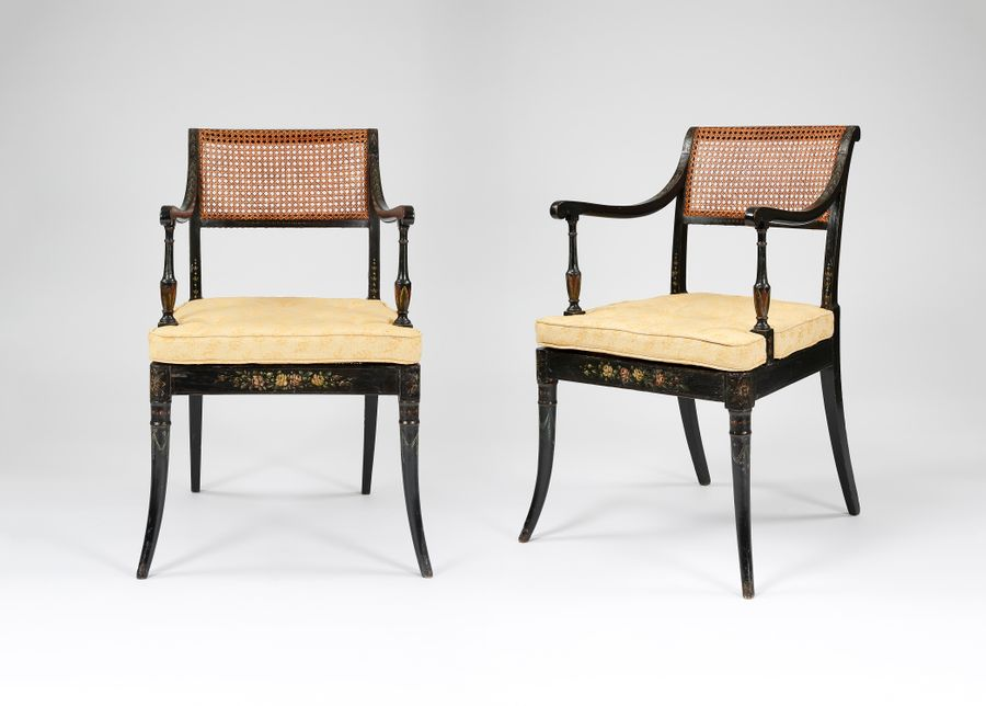 Regency Decorated Arm Chairs